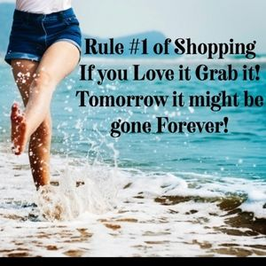 Rule #1 of Shopping